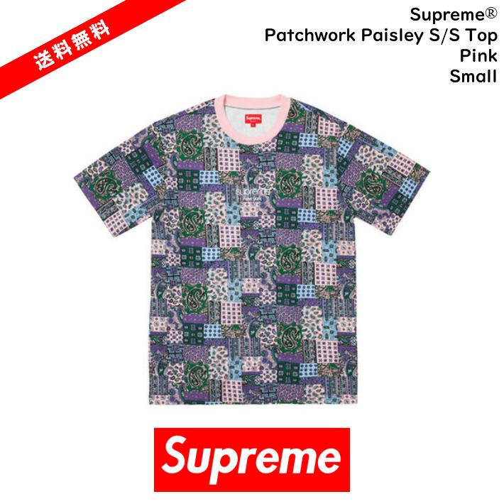 【国内正規品】Supreme(シュプリーム)Supreme Patchwork Paisley S/S Top Pink シュプリーム シュプリーム Tシャツ サイズ S SmallSupreme 2019 SS Supreme 19SS 【中古】【新古品 未使用品】【半タグ付き】