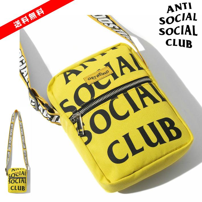 新入荷【公式 正規品】ASSC It's The Remix Yellow Side Bag / Shoulder Bag /ANTI SOCIAL SOCIAL CLUB ロゴ ショルダーバッグ アンチソーシャルソーシャルクラブ Yellow / イエロー/黄 国内正規品ANTI SOCIAL SOCIAL CLUB