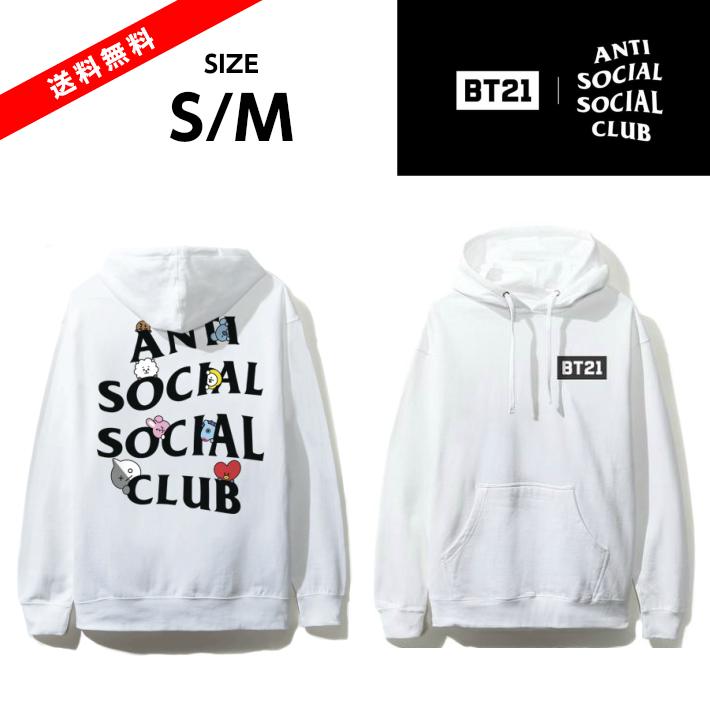 【公式 正規品】ASSC ASSC X BT21 Collab - Peekaboo Black Hoodie-WHITE ホワイトサイズ S/MAnti Social Social Club BT21CLUB 防弾少年団 スウェット パーカー