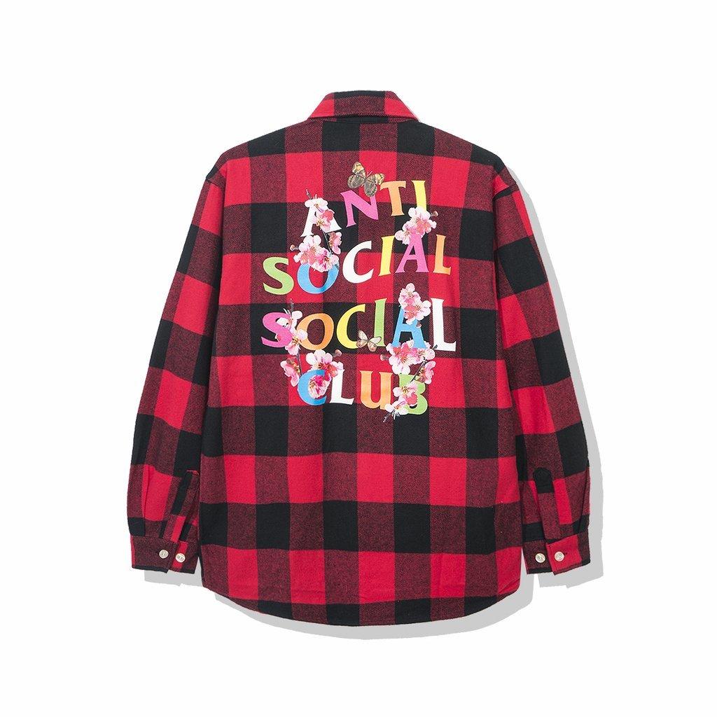 新入荷【公式 正規品】ASSC Frantic - Red Flannel FLANNEL SHIRT フランネルシャツ レッドサイズ S/M/L/XL(LL)Anti Social Social Club Red Flannel assc anti