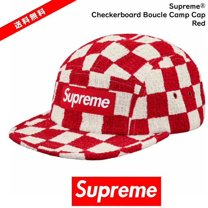 【国内正規品】Supreme(シュプリーム)Supreme - Checkerboard Boucle Camp Cap Red シュプリーム シュプリーム ピンク サイズ FREESupreme 2019 SS Supreme 19SS 【中古】【新古品 未使用品】【半タグ付き】