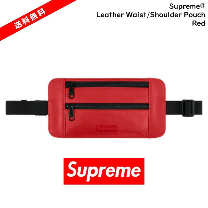 【国内正規品】Supreme(シュプリーム)19ss SUPREME Leather Waist/Shoulder Pouch レッド 赤Supreme シュプリーム レザー  ウエストバッグ  ウエストバッグ 新作 国内正規品Supreme 2019【中古】【新古品 未使用品】【半タグ付き】