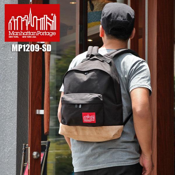【正規取扱店】Manhattan Portage Suede Fabric Backpack[ブラック]マンハッタンポーテージ スウェードファブリック バックパックメンズ レディース【鞄】 bpk 1307ripe