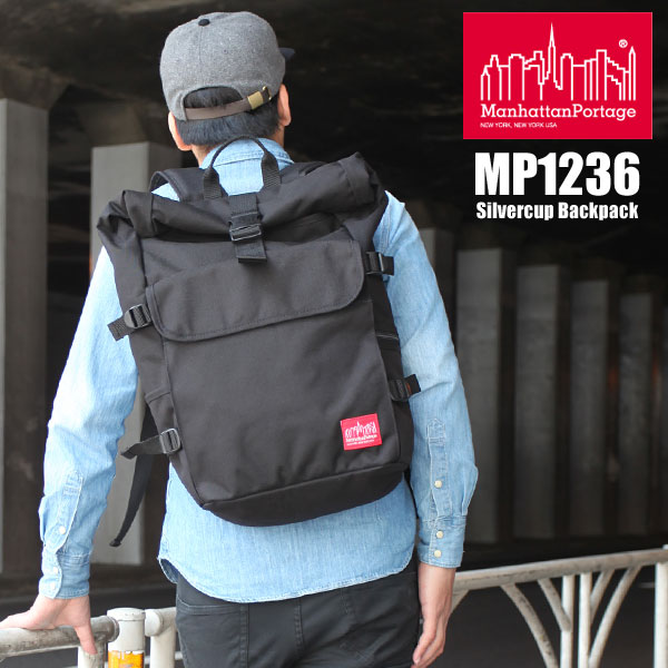 【正規取扱店】Manhattan Portage Silvercup Backpack[ブラック]マンハッタンポーテージ シルバーカップ バックパックメンズ レディース【鞄】 11404F(ripe)