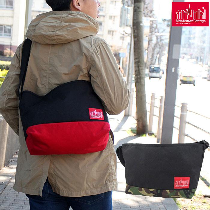 【正規取扱店】Manhattan Portage Flatbush Messenger Bag[全2色]マンハッタンポーテージ フラットブッシュ メッセンジャーバッグメンズ レディース【鞄】 1403ripe