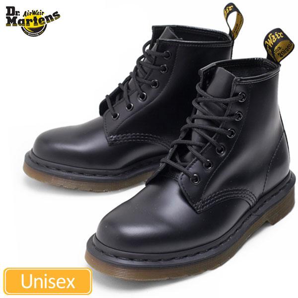 【正規取扱店】Dr.Martens 101 6EYE BOOT[ブラック](10064001)ドクターマーチン 6ホールブーツメンズ レディース【靴】 11509E(ripe)(送料無料)