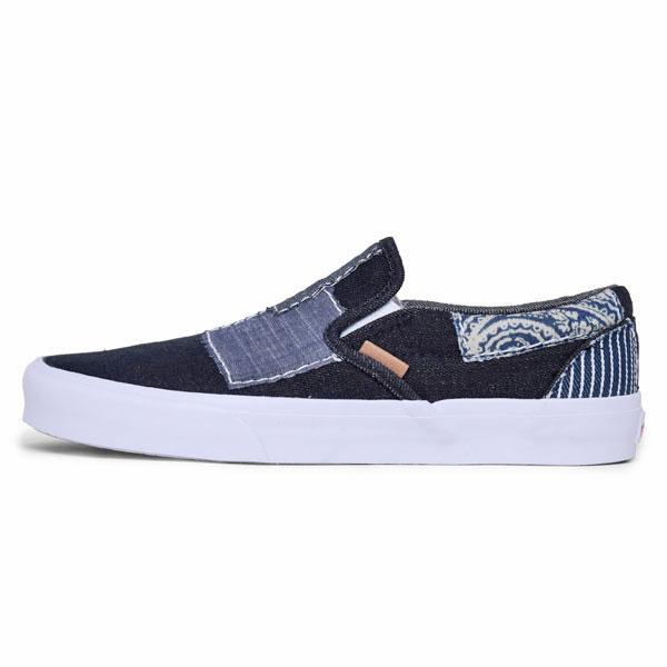 @ 卡车VANS SLIP-ON CA(DENIM BORO)[蓝色/二汤汁白]懒汉鞋加利福尼亚(粗斜纹布破烂)男女两用(男女兼用)_11510E(ripe)