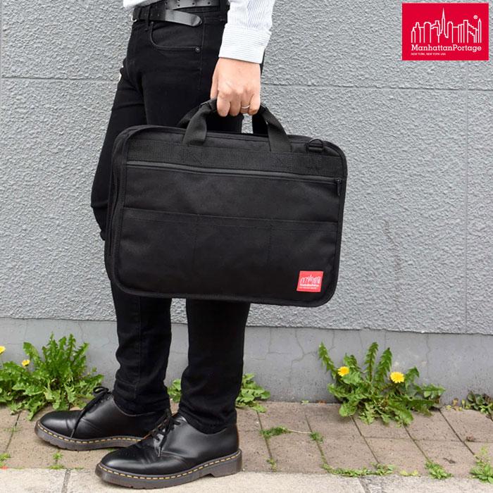 \最大500円OFFクーポン配布中/マンハッタンポーテージ Manhattan Portageブルーム ブリーフケース[ブラック]Broome Briefcase (MP1749)メンズ レディース【鞄】_1604ripe bzbg
