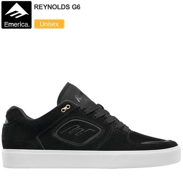 【正規取扱店】・エメリカ スニーカー レイノルズ G6[ブラック ホワイト]EMERICA REYNOLDS メンズ レディース【靴】 snk 1708ripe