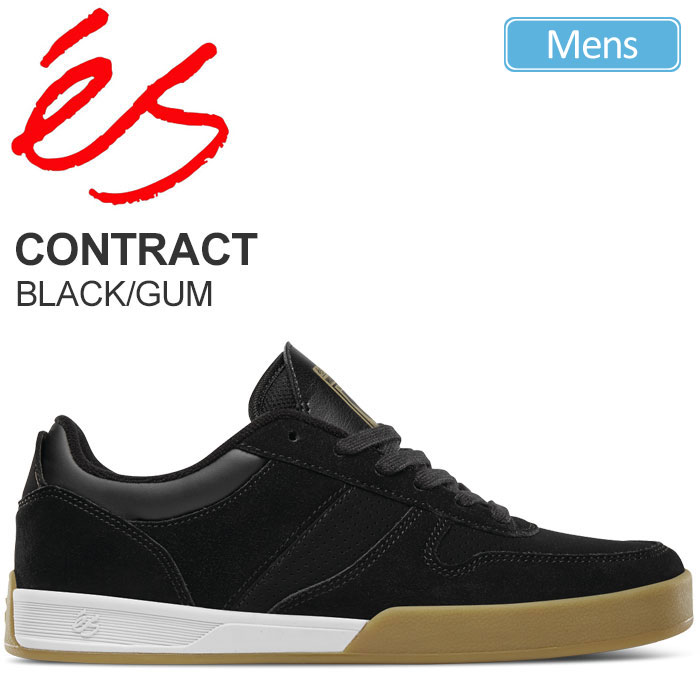 【正規取扱店】エス 'es コントラクト[ブラック ガム]CONTRACT メンズ【靴】 snk 1809ripe