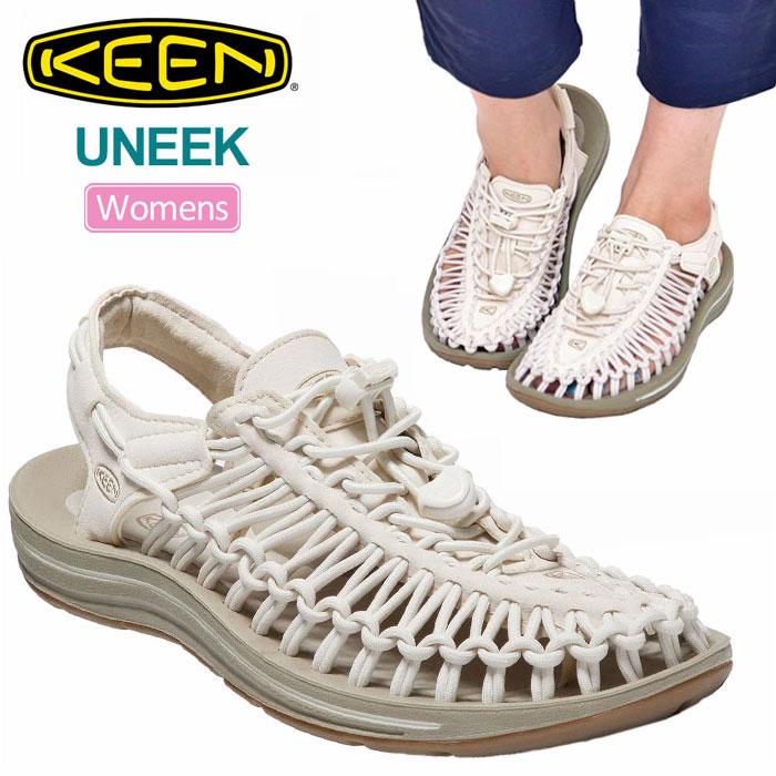 【正規取扱店】キーン KEEN サンダル レディース ユニーク UNEEK ホワイトキャップ コーンストーク 1018698 sdl【靴】2004ripe