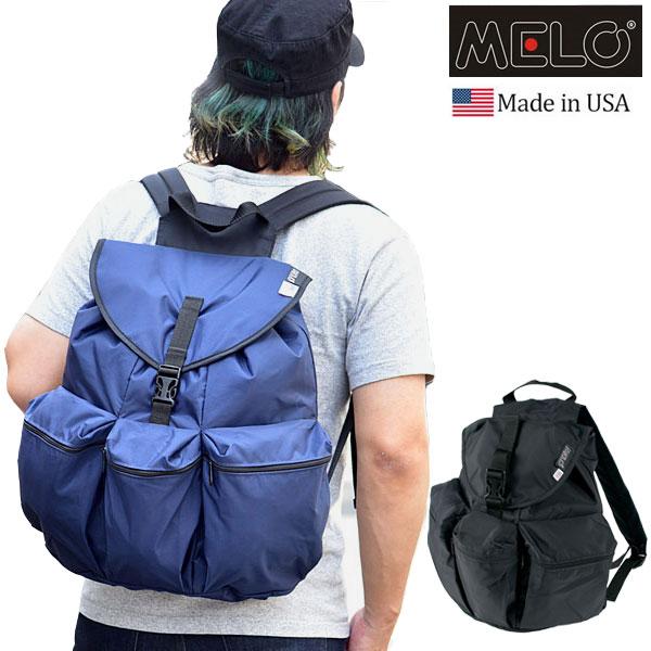 【正規取扱店】メロ リュック ラージ 3ポケットバックパック[全2色](WA24 12-0005)MELO LARGE 3POCKET BACKPACK メンズ レディース【鞄】 1806ripe
