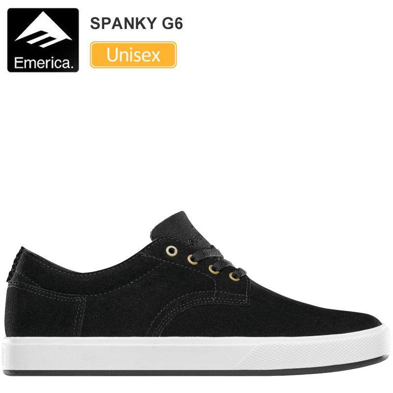 【正規取扱店】エメリカ スニーカー EMERICA スパンキー G6[ブラック ホワイト](23-28.5cm)SPANKY G6メンズ レディース【靴】 snk 1906ripe