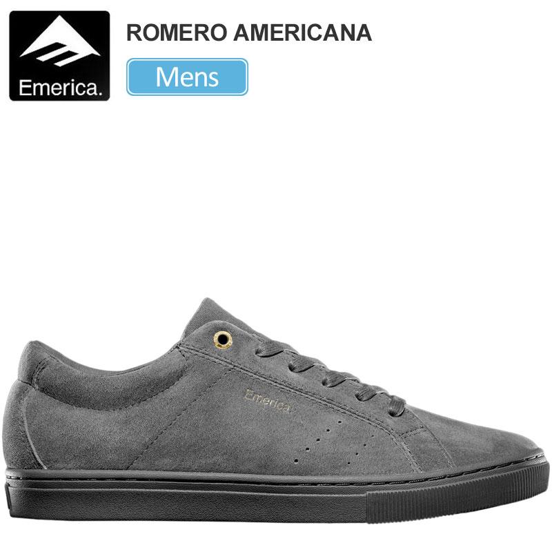 エメリカ スニーカー EMERICA ロメロアメリカーナ(グレー グレー)(26-29cm)THE ROMERO AMERICANA メンズ【靴】 snk 1909ripe