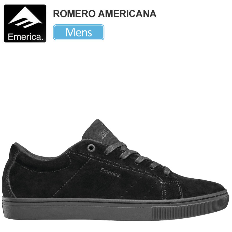 【正規取扱店】エメリカ スニーカー EMERICA ロメロアメリカーナ(ブラック ブラック ガム)(25-28.5cm)THE ROMERO AMERICANA メンズ【靴】 snk 1909ripe