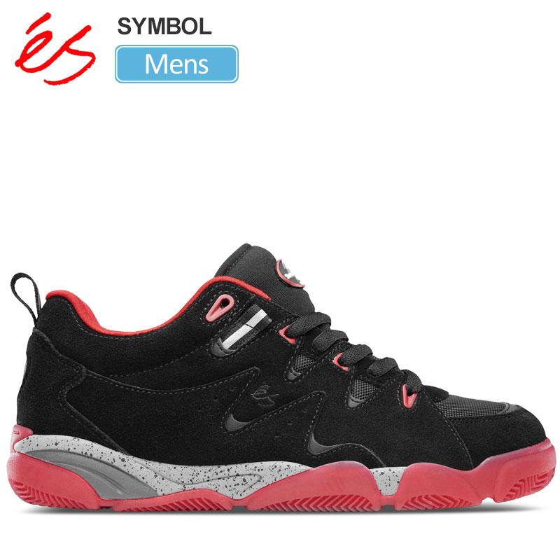 【正規取扱店】エス スニーカー 'es シンボル(ブラック レッド)(25.5-28cm)SYMBOL メンズ【靴】 snk 1909ripe