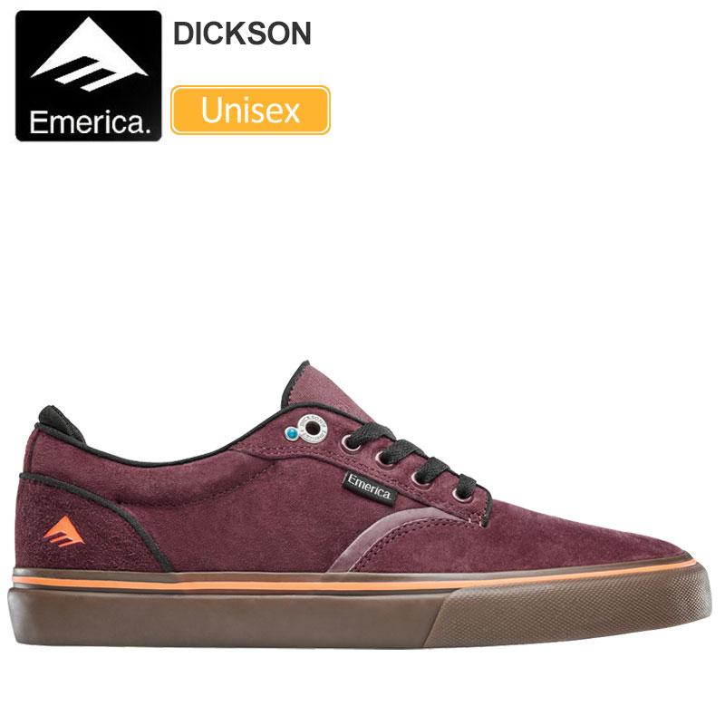 【正規取扱店】エメリカ EMERICA スニーカー スケートシューズ メンズ レディース ディクソン バーガンディー ガム 23-29cm DICKSON 20SS【靴】snk 2003ripe