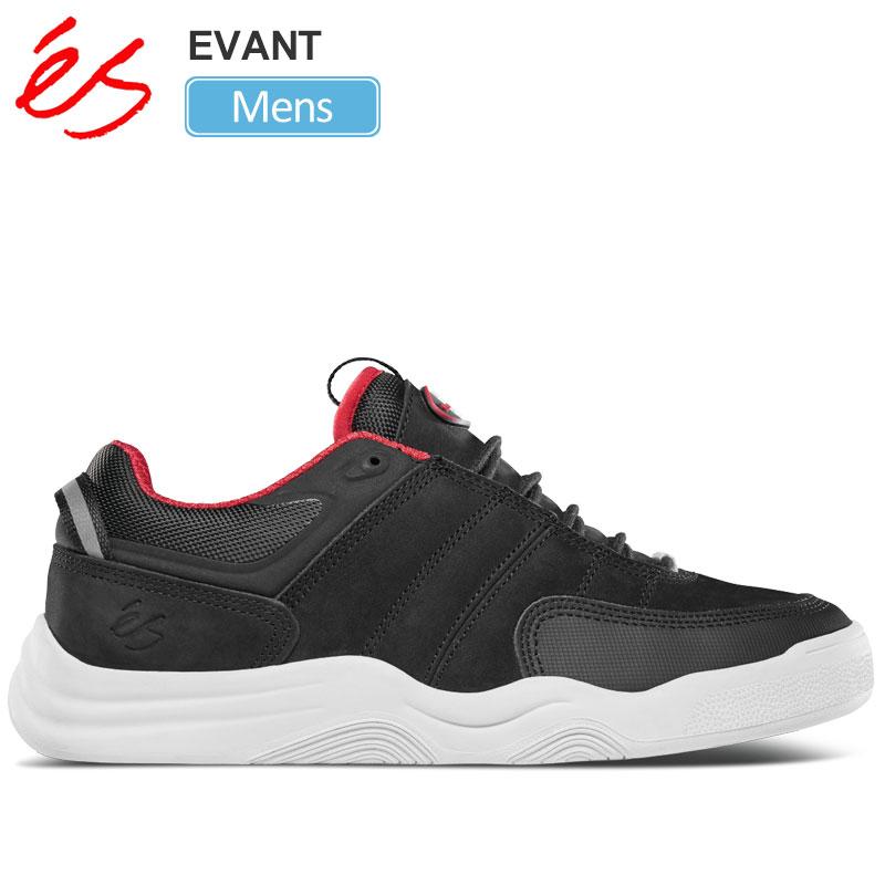 【正規取扱店】エス 'es スニーカー スケートシューズ メンズ エヴァン エバン ブラック 26-29cm EVANT 20SS【靴】snk 2003ripe