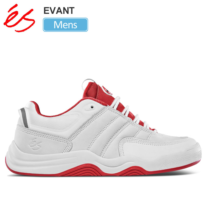 【正規取扱店】エス 'es スニーカー スケートシューズ メンズ エヴァン エバン ホワイト レッド 25-29cm EVANT 20SS【靴】snk 2003ripe