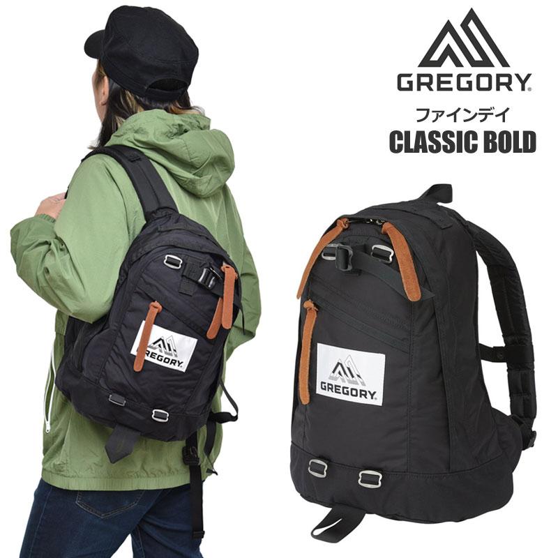 【正規取扱店】ロゴステッカー先着プレゼント グレゴリー リュック GREGORY ファインデイ ボールド(16L)(ブラック)FINEDAY CLASSIC BOLD メンズ レディース【鞄】 bpk 2002ripe