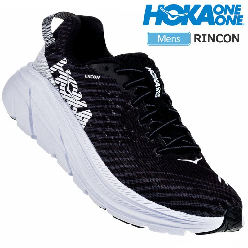 【正規取扱店】ホカオネオネ スニーカー HOKA ONE ONE リンコン RINCON[ブラック ホワイト](1102874 26-28cm)メンズ【靴】 snk 2002ripe