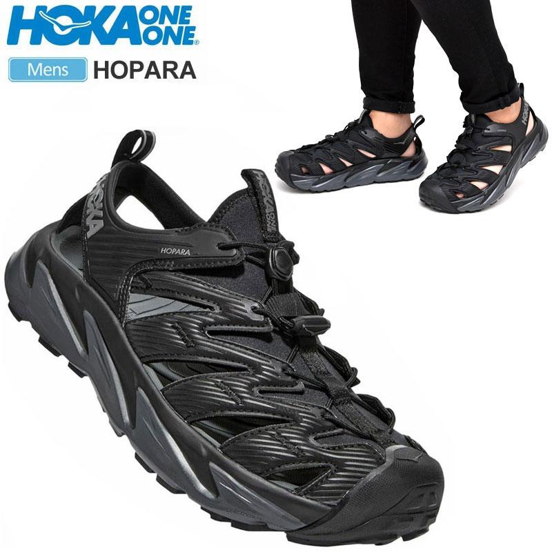 【正規取扱店】ホカオネオネ HOKA ONE ONE サンダル メンズ ホパラ HOPARA ブラック ダークシャドー 25-28.5cm 1106534 20SS sdl【靴】2004ripe