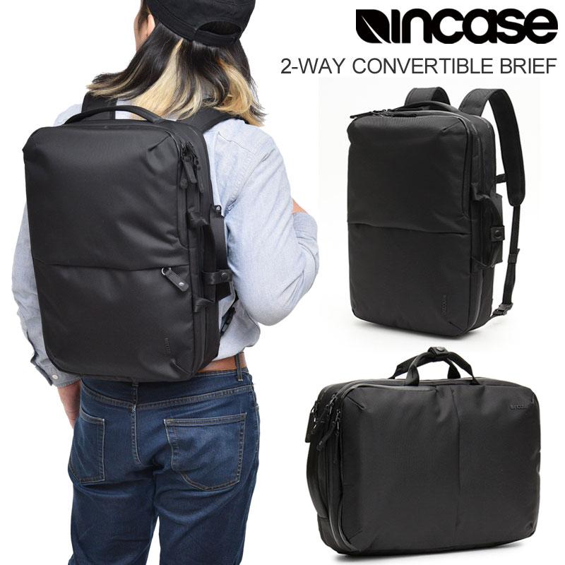 インケース Incase ブリーフケース リュック メンズ レディース 2-WAY コンバーチブルブリーフ ブラック 2WAY CONVERTIBLE BRIEF 137201053001 INBP100653 bpk bns【鞄】2002ripe