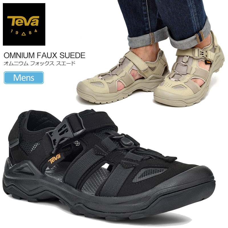スポーツサンダル 水陸両用 シューズ AL完売しました。 アウトドア SALE 25%OFFテバ Teva サンダル お買い得品 スニーカー メンズ オムニウムフォックススエード ブラック プラザトープ 靴 OMNIUM ss_sale ラッピング不可 2103ripe 2021SS 1116202 sdl 25-29cm 返品交換 SUEDE FAUX