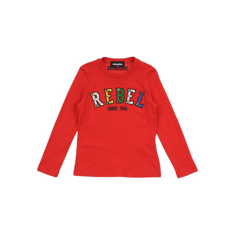 DSQUARED2 ディースクエアード {ギフトラッピング} DSQUARED2 ディースクエアード キッズ 子供服 ガール Tシャツ カットソー トップス レッド
