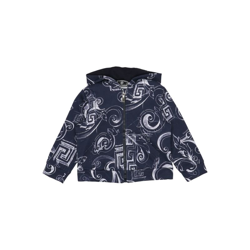VERSACE YOUNG {ギフトラッピング} VERSACE YOUNG キッズ 子供服 ボーイ スウェット トレーナー トップス ダークブルー