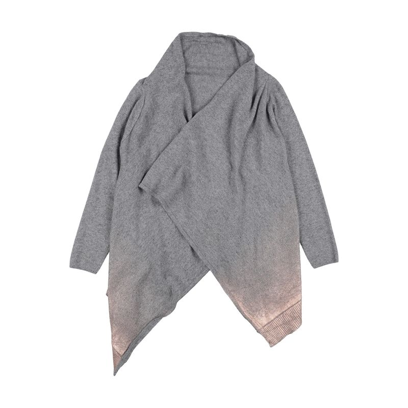 L: by MISS 引出物 GRANT {ギフトラッピング} 正規品スーパーSALE×店内全品キャンペーン グレー 子供服 カーディガン トップス キッズ