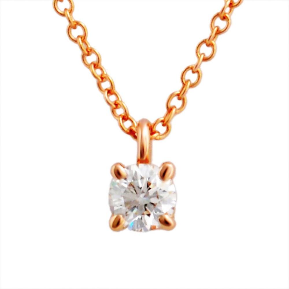 【送料無料】ティファニー TIFFANY&CO 30223942 ソリティア ダイヤモンド ペンダント 0.17ct 16in 18KRG ネックレス レディース アクセサリー ギフト プレゼント 誕生日