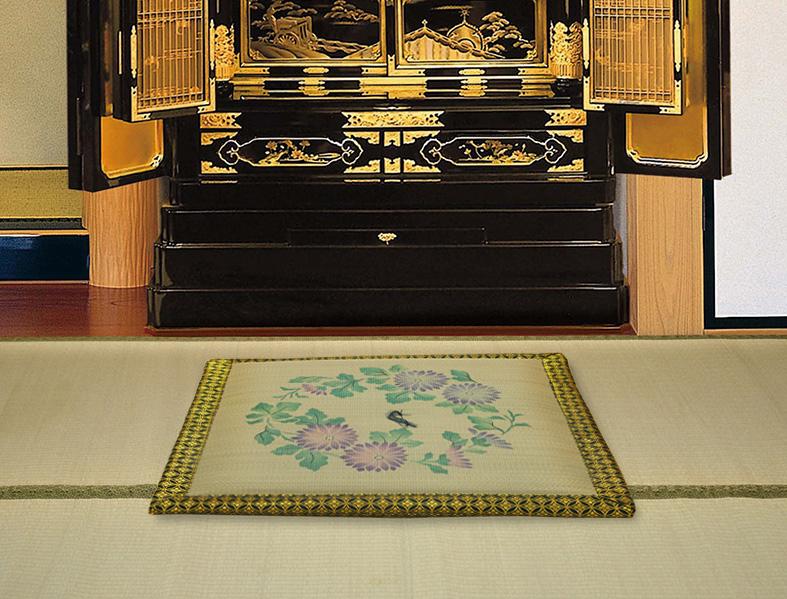 【純国産】御前座布団 万葉約70×70cm 日本製 い草 天然素材 仏前用 お盆用 法事用
