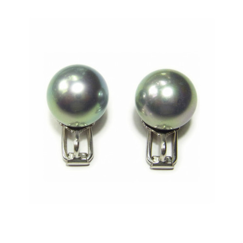 The Artificial Pearl Of Highest Grade Large Drop 9mm Gray Ball Basic Earrings Majolica It Is A Pure Article Produced In Spanish
