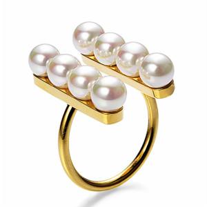 マジョリカパール ホワイト5mm パールライン フォークリング Majorica Pearl パーティー フォーマル 結婚式 冠婚葬祭