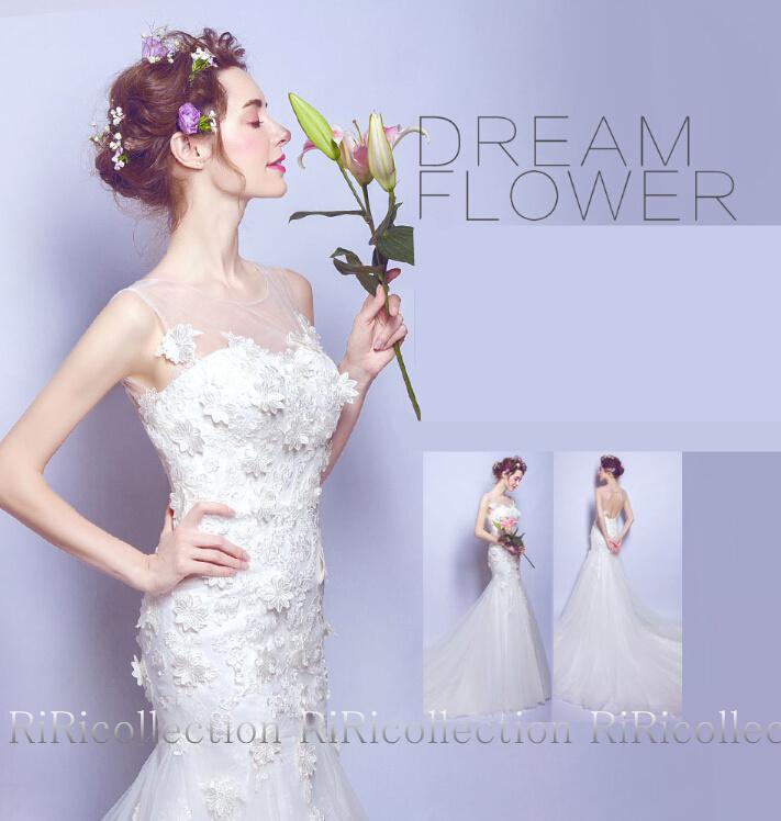 Riricollection Wedding Dress Dress Mermaid Refined Colored