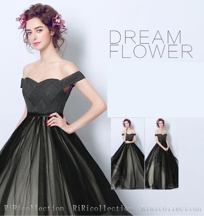 47b8df1f326b7 ウェディングドレス カラードレス ブラック 色直し ドレス 結婚式 披露宴 欧米人気 刺繍  ...