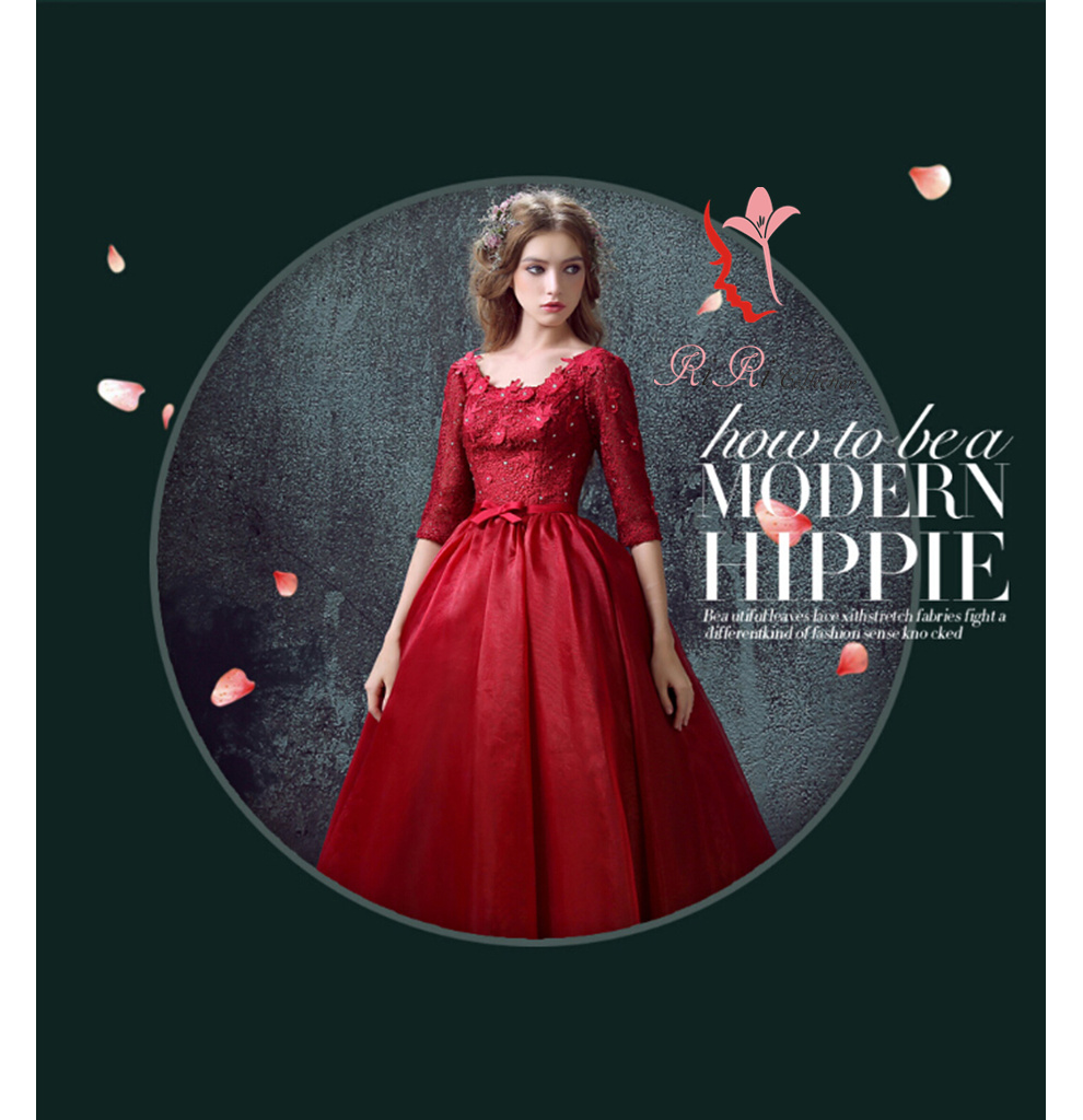 Wedding Dress Red Flower Ceremony Banquet Embroidery Princess Line Minidress Second Party Bustier