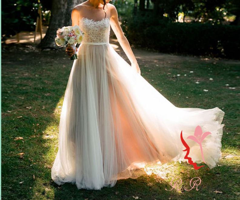 Riricollection: Wedding Dress Dress Slim Long Dress Europe