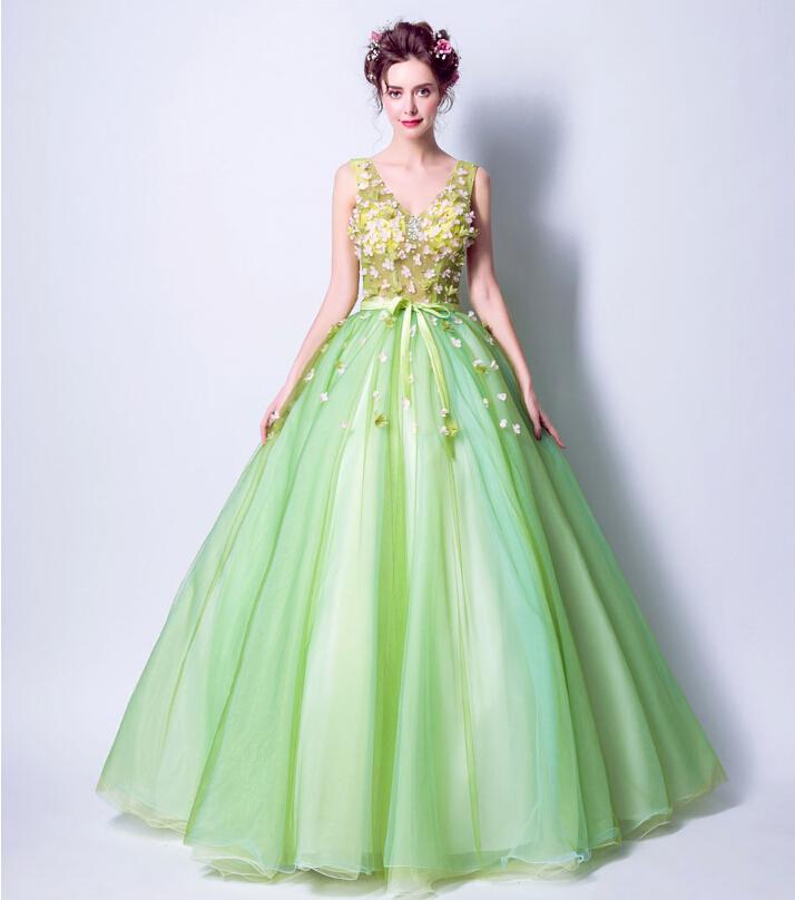 Wedding Gowns Ri: Riricollection: Wedding Dress Colored Racesless Green