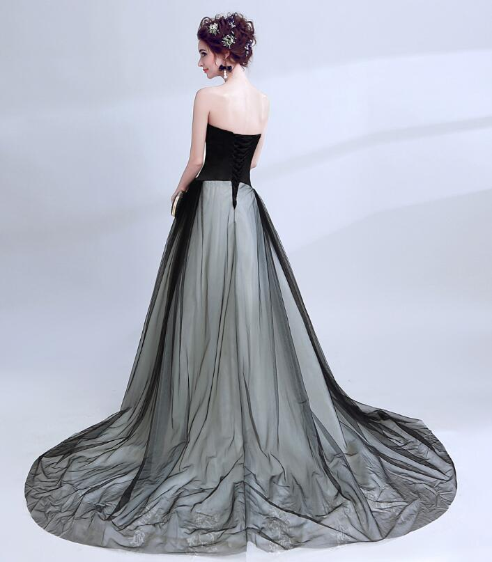 Wedding Gowns Ri: Riricollection: Queen Dress-253 Colored Racesless BLACK