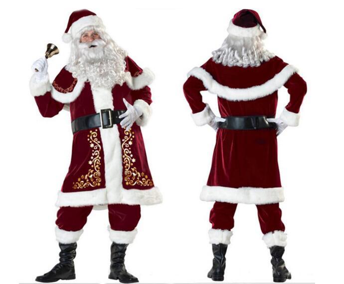 即納♪  サンタクロース 大人 7点セット フリーサイズ 防寒対策 手提げ袋付き   コスプレ /コスチューム サンタ 衣装/ X'masグッズ /コスチューム レディース・サンタコスチューム/ワンピース/イベント/防寒グッズ  CMS-0007