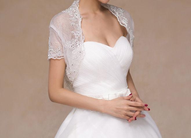 289534d729589 ウェディングドレス 花嫁 ウエディング ウエディング ブライダル ウエディングドレス 二次会 パーティー 結婚式 お呼ばれ ボレロ 上