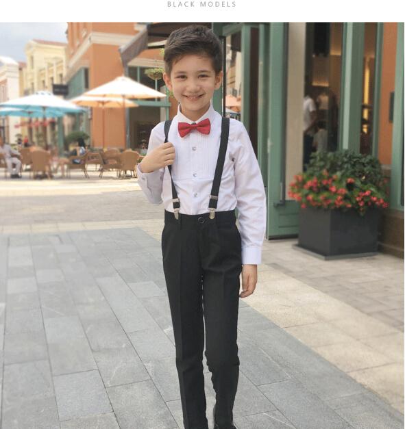 6c30c1e87d7 riricollection  Boy four points set 2 color formal suit Y shirt underwear suspender  bow tie 100 - 160CM entrance ceremony suit   graduation ceremony ...