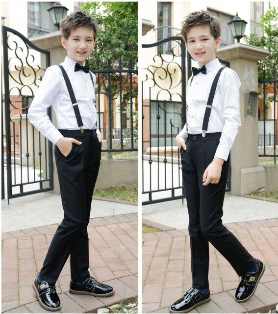 Riricollection Boy Formal Suit Kids 170cm Black Y Shirt Underwear