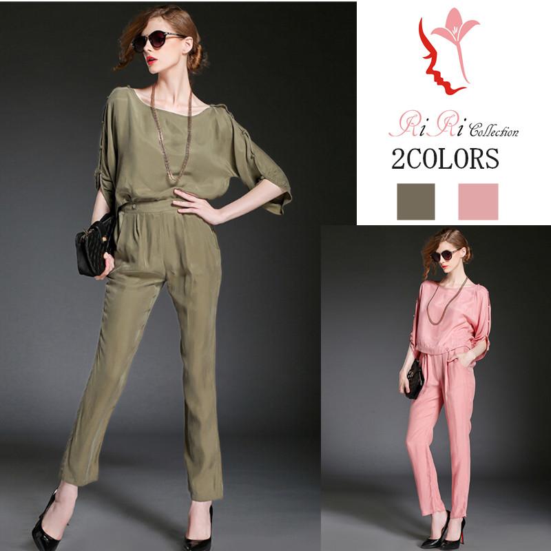 pants-f002レディス パンツ セットアップ パンツドレス シフォン スカーチョ ガウチョパンツ 大きいサイズ サロペット 春 夏 レディース S-XL
