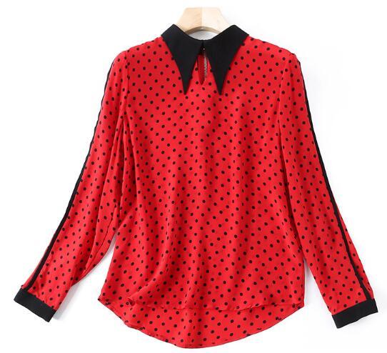 2018年新作 トップス 体型カバー 春 長袖 花柄 薄手 ゆったり レディースシャツ シルク ボタン tops-f009 S-XL