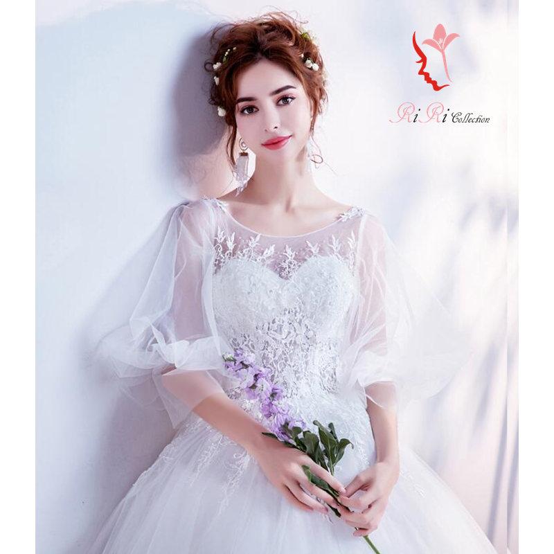 Riricollection: Latest Wedding Dress Flare Flower Flower