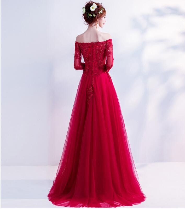 Wedding Gowns Ri: Riricollection: Wedding Dress Red Off Shoulder Dress Red