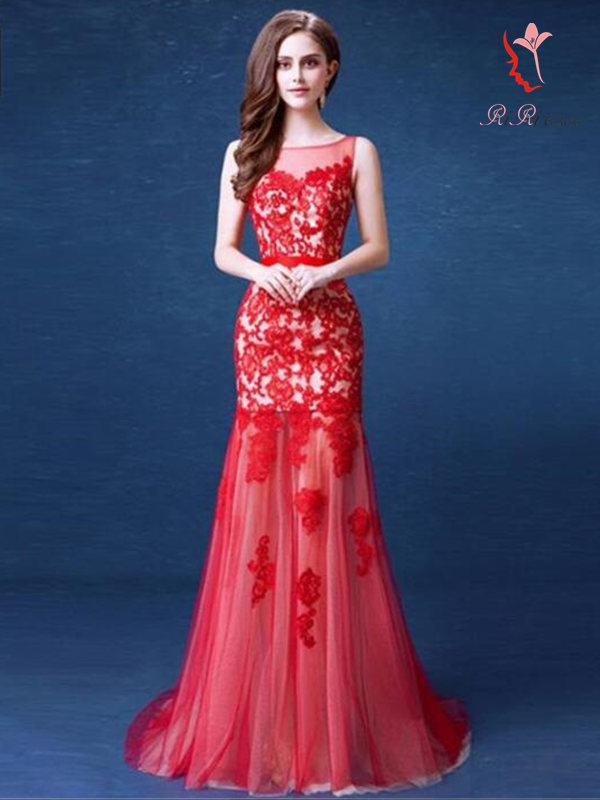riricollection | Rakuten Global Market: Mermaid dress embroidery red ...